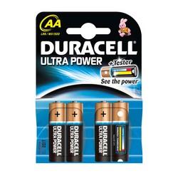 "DURACELL pile alcaline ""ULTRA POWER"" Mignon, blister de 4 (AA/LR6/MN1500)"