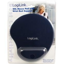 LogiLink Repose-poignet à gel avec tapis de souris, noir